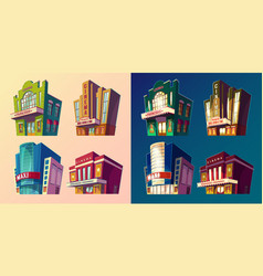 Set isometric buildings vector