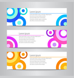 Set of design circle banner template vector