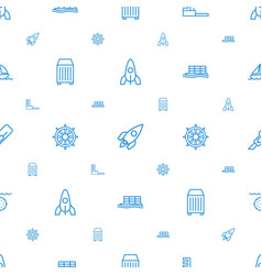 Ship icons pattern seamless white background vector