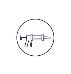 silicone gun line icon vector image
