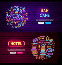 street hotel bar website banners vector image