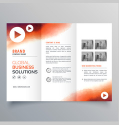 stylish trifold business brochure template made vector image