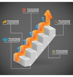 Success Steps Concept Arrow and Staircase vector