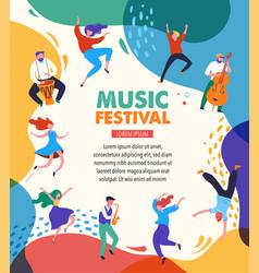 summer fest concept live music festival jazz vector image