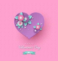 valentines day holiday design vector image