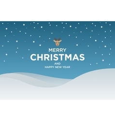 Vintage Christmas card with Greeting text and vector