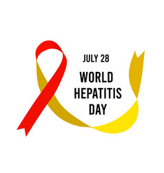 world hepatitis day with ribbon vector image