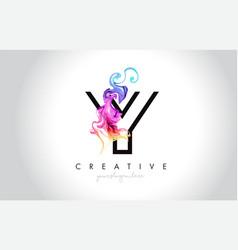 Y vibrant creative leter logo design with vector