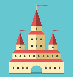 Beautiful castle flat style vector image vector image