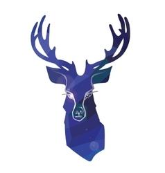 Cartoon deer in polygon ornament vector image vector image