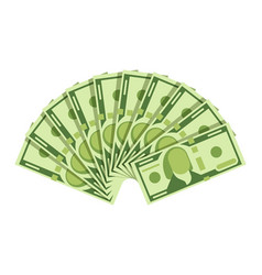 dollar banknotes fan green currency cash notes vector image vector image