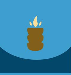 flat icon with dark shadow hookah charcoal hookah vector image