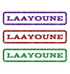 laayoune watermark stamp vector image vector image