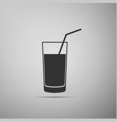 soft drink icon isolated on grey background vector image vector image