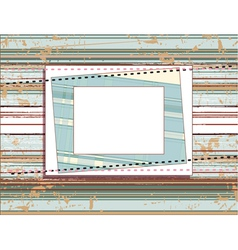 square frame on the vintage shabby background with vector image vector image