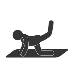 stretching man workout vector image