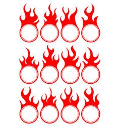 Twelve fire icon vector