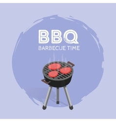 Barbecue BBQ Time Vintage Graphic vector image vector image