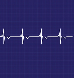 Ekg line vector image