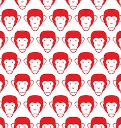 Monkey seamless pattern Head of animal background vector image