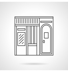 Music store facade flat line icon vector image