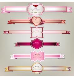 Set of holiday ribbons vector image