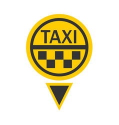 Taxi logotype in round shape isolated on white vector
