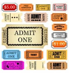 ticket admit one vector image