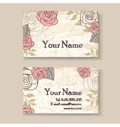 vintage card with roses vector image