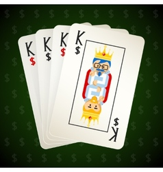 Business playing cards Four kings vector image vector image