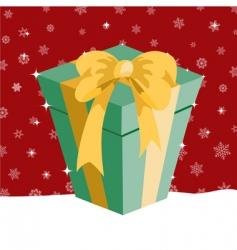 Christmas presents box vector image vector image