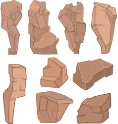 Set of Stones Rock elements for your Design vector image vector image