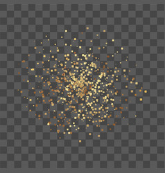 golden confetti on transparent background vector image