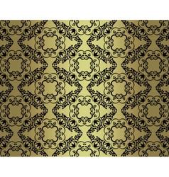 Vintage damask ornament pattern vector image