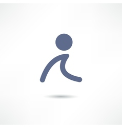 walk icon vector image