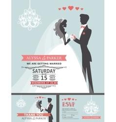 Wedding invitation with cartoon bridegroom vector image vector image