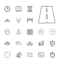 22 speed icons vector