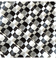 3d perspective view of a chess board vector