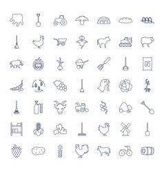 49 agriculture icons vector