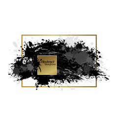 Abstract banner paintbrush and ink splash vector