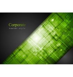 Abstract dark green tech background vector
