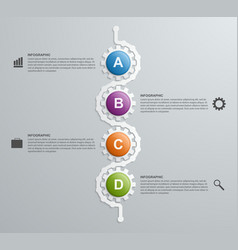 Abstract gears infographics template Design vector