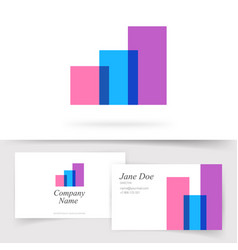 abstract logo audit analysis financial sales vector image