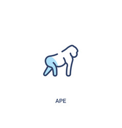 Ape concept 2 colored icon simple line element vector
