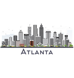 Atlanta georgia usa city skyline with gray vector