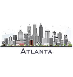 atlanta georgia usa city skyline with gray vector image