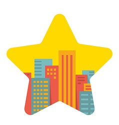 background a large city in the star vector image