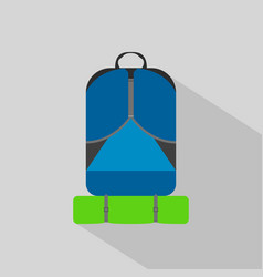 backpack hiking camping flat icon vector image vector image