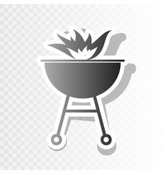barbecue with fire sign new year blackish vector image