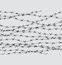 Barbed wire fencing fence made of wire with vector